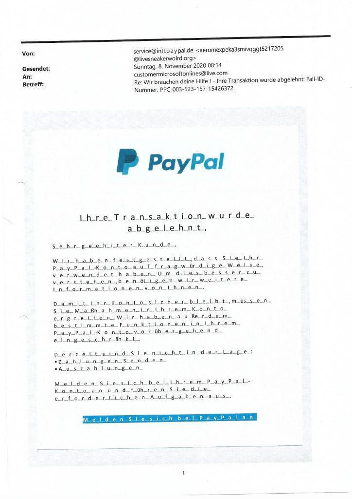 Paypal Fake 2
